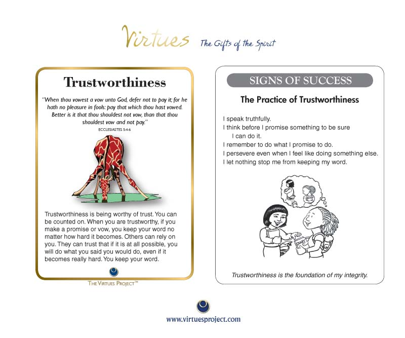 Family Virtues Cards - Christian: King James Edition